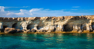 Sea caves at Cape Greco, Cyprus Stock Photography