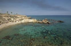 Sea caves,Cape Greko. Mediterranean Sea,Cyprus Royalty Free Stock Photos