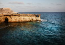 Sea caves in Cyprus Royalty Free Stock Image