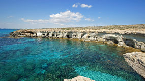 Sea Caves, Cyprus, Europe Royalty Free Stock Images