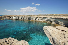 Sea Caves, Cyprus, Europe Stock Photo
