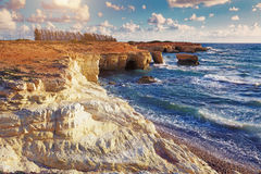 Sea Caves . Cyprus Stock Photo