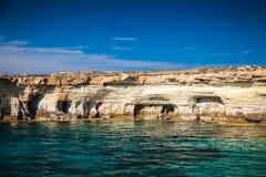 Sea caves near Ayia Napa Royalty Free Stock Photography