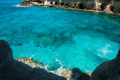 Sea caves near Ayia Napa, Mediterranean sea coast, Cyprus Royalty Free Stock Photos