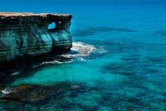 Sea caves near Ayia Napa, Mediterranean sea coast, Cyprus Royalty Free Stock Photo
