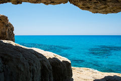 Sea caves near Ayia Napa, Mediterranean sea coast, Cyprus Stock Photo