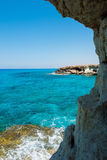 Sea caves near Ayia Napa, Mediterranean sea coast, Cyprus Stock Images