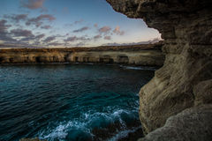 Sea caves Royalty Free Stock Images