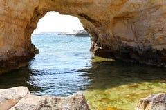 Sea caves Royalty Free Stock Image