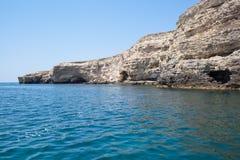 Sea caves in Tarhankut, Crimea, Ukraine Stock Photos