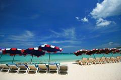 Sea Chair Beach. Beach, chair, White Outdoor Sea Stock Photos