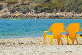 Sea and chairs Stock Photo