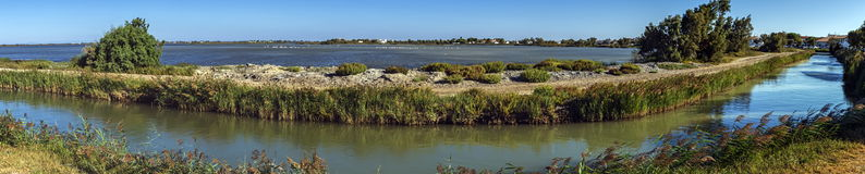 Sea channel, Camargue, France Royalty Free Stock Image