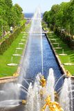 The Sea Channel in Peterhof Palace Stock Photography