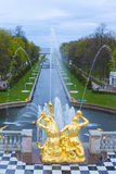 The sea channel Peterhof Stock Image
