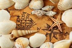 Sea chart Stock Photos