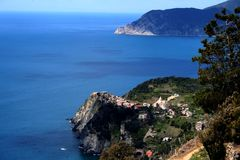 The sea of Cinqueterre Stock Photography