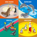 Sea Circus 2x2 Isometric Design Concept Stock Photo