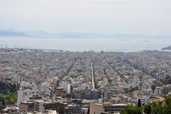 Sea city buildings athens Stock Photo