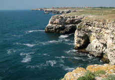 Sea cliff. High Bulgarian coast at Black Sea Royalty Free Stock Image