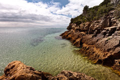 Sea cliff. Royalty Free Stock Photos