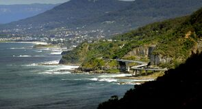 The Sea Cliff Bridge.    Clifton. NSW Royalty Free Stock Photos
