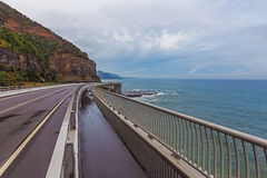 Sea Cliff Bridge Grand Pacific Drive Australia Royalty Free Stock Images