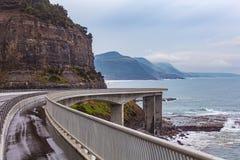 Sea Cliff Bridge Grand Pacific Drive Australia Stock Photography