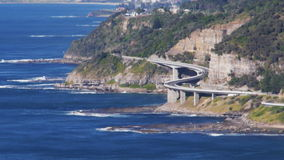 Sea cliff bridge Stock Image