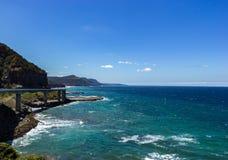 Sea Cliff most wzdłuż Uroczystej Pacyfik przejażdżki, Australia zdjęcie royalty free