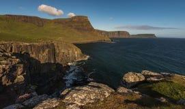 Sea Cliff near Neist Point Lighthouse , Isle of Skye , Scotland. United Kingdom Stock Photos