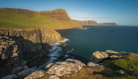 Sea Cliff near Neist Point Lighthouse , Isle of Skye , Scotland. United Kingdom Stock Images