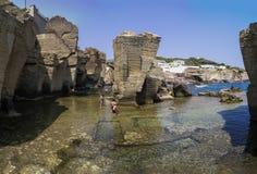 falsesia,saint cesarea spa;panorama,seascape  Royalty Free Stock Images