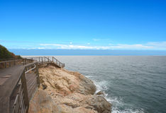 Sea and cliff. Stock Photography
