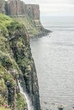The Sea And A Cliff In Scotland stock photo