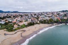 Sea Cliff teren w San Francisco, Kalifornia obrazy royalty free