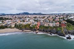 Sea Cliff teren w San Francisco, Kalifornia fotografia stock