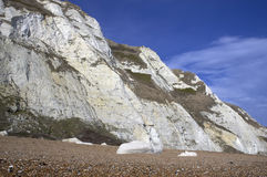 Sea cliffs. Part of the White cliffs of Dover in England Royalty Free Stock Photos