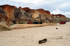 Sea cliffs and beach of Morro Branco Royalty Free Stock Images