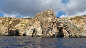 Sea cliffs and the Blue Grotto. In Malta Stock Photo