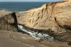 Sea Cliffs at Cape Kiwanda Royalty Free Stock Photography