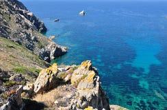 Sea and cliffs - Corsica- Revellata Royalty Free Stock Photo