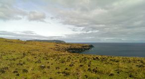Sea cliffs on Easter Island Stock Images