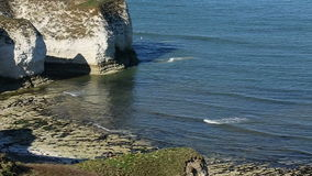 Sea Cliffs - Flanborough Head - Yorkshire - England stock footage