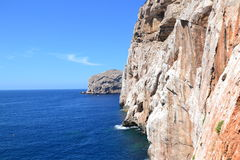 Sea cliffs and island Stock Photo