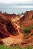 Sea cliffs of Morro Branco Stock Photo