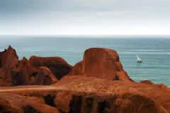 Sea cliffs of Morro Branco Royalty Free Stock Photos