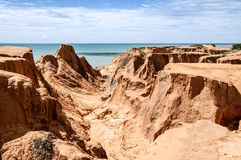 Sea cliffs of Morro Branco Royalty Free Stock Photography