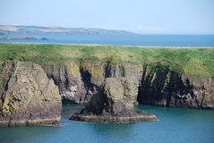 Sea Cliffs Near Dunnottar Castle Royalty Free Stock Images