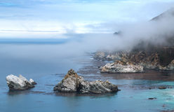 Sea Cliffs. Cliffs next to McWay Falls - Big Sur State Park, California, USA stock images